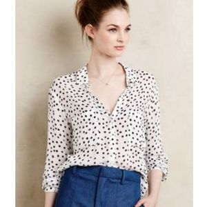Anthropologie Cloth & Stone Dotscape Button Down